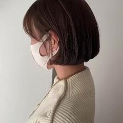 極細ハイライト ボブ ミニボブ ナチュラル ヘアスタイルや髪型の写真・画像