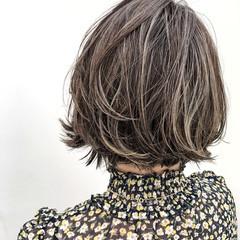 ナチュラル 外国人風 涼しげ ボブ ヘアスタイルや髪型の写真・画像