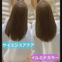 ナチュラル ロング 髪質改善 うる艶カラー ヘアスタイルや髪型の写真・画像