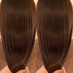 髪質改善 モカブラウン 暖色 ロング ヘアスタイルや髪型の写真・画像