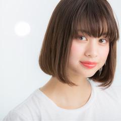 暗髪 前髪あり 色気 ナチュラル ヘアスタイルや髪型の写真・画像