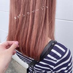 ガーリー ベリーピンク ピンクベージュ ラベンダーピンク ヘアスタイルや髪型の写真・画像
