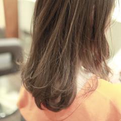 3Dハイライト セミロング ハイライト ナチュラル ヘアスタイルや髪型の写真・画像