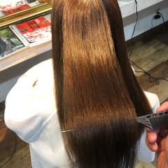 髪質改善カラー ロング 縮毛矯正 美髪 ヘアスタイルや髪型の写真・画像