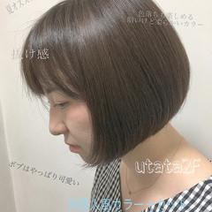 フェミニン 外国人風カラー 女子力 ショート ヘアスタイルや髪型の写真・画像