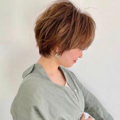 ショート 小顔ヘア ベリーショート ナチュラル ヘアスタイルや髪型の写真・画像