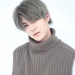 メンズヘア ミディアム 韓国ヘア ハンサムショート ヘアスタイルや髪型の写真・画像