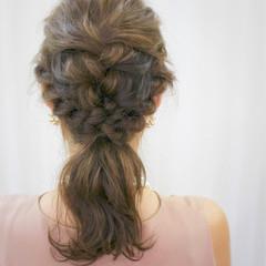 パーティ ヘアアレンジ ミディアム ナチュラル ヘアスタイルや髪型の写真・画像
