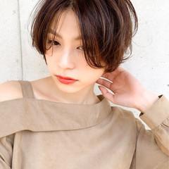 インナーカラー ベリーショート ショート ショートボブ ヘアスタイルや髪型の写真・画像