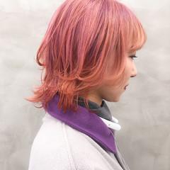 ミディアム フェミニン アンニュイほつれヘア マッシュウルフ ヘアスタイルや髪型の写真・画像