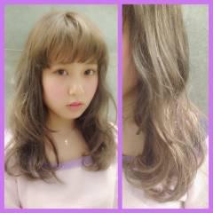 セミロング ストリート ハイトーン パンク ヘアスタイルや髪型の写真・画像