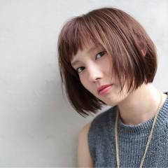 ストリート 大人かわいい グラデーションカラー シースルーバング ヘアスタイルや髪型の写真・画像