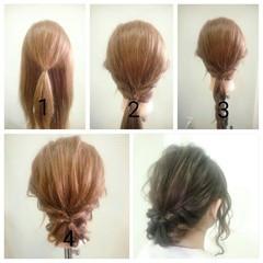 大人女子 大人かわいい セミロング ヘアアレンジ ヘアスタイルや髪型の写真・画像