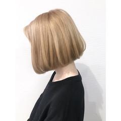 ボブ 簡単ヘアアレンジ ストリート ハイトーンカラー ヘアスタイルや髪型の写真・画像
