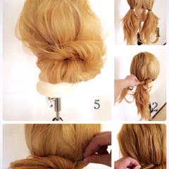 大人かわいい くせ毛風 セミロング 簡単ヘアアレンジ ヘアスタイルや髪型の写真・画像