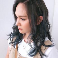 セミロング 髪質改善 ブリーチカラー 髪質改善トリートメント ヘアスタイルや髪型の写真・画像