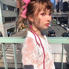 ガーリー ヘアアレンジ バレンタイン 成人式 ヘアスタイルや髪型の写真・画像