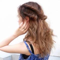 モテ髪 三つ編み ストレート ストリート ヘアスタイルや髪型の写真・画像