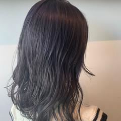ダブルカラー ナチュラル 透明感カラー ロング ヘアスタイルや髪型の写真・画像