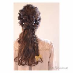 結婚式 ヘアアレンジ 二次会 春 ヘアスタイルや髪型の写真・画像