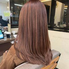バレイヤージュ 外国人風 ロング ハイライト ヘアスタイルや髪型の写真・画像