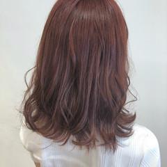 オレンジブラウン アプリコットオレンジ ナチュラル オレンジベージュ ヘアスタイルや髪型の写真・画像