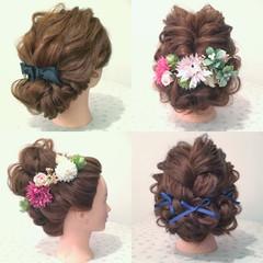 フェミニン ナチュラル ロング 三つ編み ヘアスタイルや髪型の写真・画像
