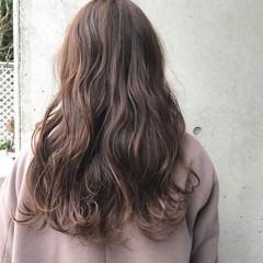 ナチュラル ピンクアッシュ ロング ピンクブラウン ヘアスタイルや髪型の写真・画像