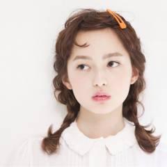 ナチュラル ショート オン眉 簡単ヘアアレンジ ヘアスタイルや髪型の写真・画像