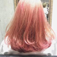 ハイライト ミディアム ダブルカラー ヘアアレンジ ヘアスタイルや髪型の写真・画像
