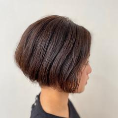 ミニボブ ボブ くせ毛 ベリーショート ヘアスタイルや髪型の写真・画像