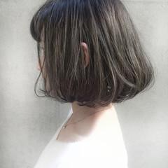 ストリート ボブ ハイライト 黒髪 ヘアスタイルや髪型の写真・画像