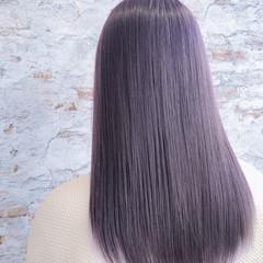 イルミナカラー パープル ミディアム 艶髪 ヘアスタイルや髪型の写真・画像