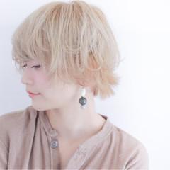 フェミニン ショート 透明感 ショートボブ ヘアスタイルや髪型の写真・画像