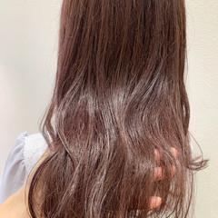 ナチュラル ロング チョコレート ピンクブラウン ヘアスタイルや髪型の写真・画像