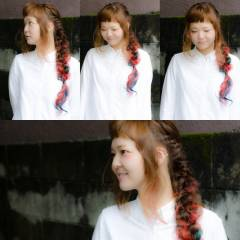 ヘアアレンジ ガーリー ロング ゆるふわ ヘアスタイルや髪型の写真・画像