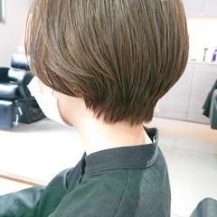ナチュラル ショート 簡単スタイリング 美シルエット ヘアスタイルや髪型の写真・画像