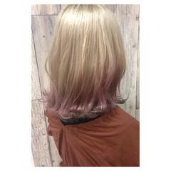 アンニュイほつれヘア 大人かわいい セミロング ゆるふわ ヘアスタイルや髪型の写真・画像