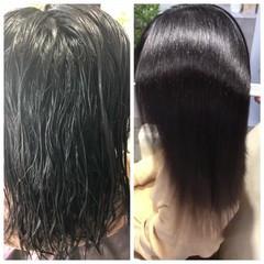 セミロング トリートメント ナチュラル 縮毛矯正 ヘアスタイルや髪型の写真・画像