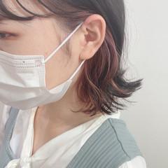 ラベンダーピンク フェミニン ラズベリーピンク ショートボブ ヘアスタイルや髪型の写真・画像