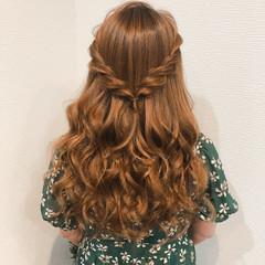 ヘアアレンジ ヘアセット ねじり ハーフアップ ヘアスタイルや髪型の写真・画像