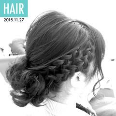 結婚式 パーティ 大人かわいい ガーリー ヘアスタイルや髪型の写真・画像