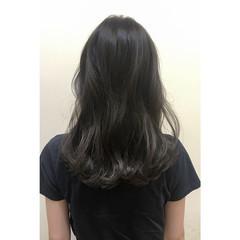ミディアム 外国人風 アッシュ ストリート ヘアスタイルや髪型の写真・画像