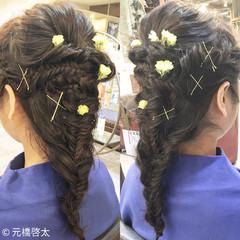 こなれ感 大人女子 小顔 編み込み ヘアスタイルや髪型の写真・画像