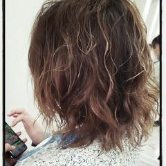ハイライト ナチュラル グラデーションカラー ボブ ヘアスタイルや髪型の写真・画像