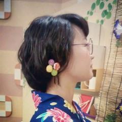 ヘアアレンジ ロング 和装 ガーリー ヘアスタイルや髪型の写真・画像