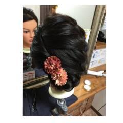 ヘアアレンジ 編み込み ロング まとめ髪 ヘアスタイルや髪型の写真・画像