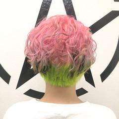 モード ショート ブリーチカラー ブリーチ ヘアスタイルや髪型の写真・画像
