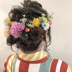 ゆるふわ ナチュラル 波ウェーブ ミディアム ヘアスタイルや髪型の写真・画像