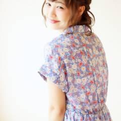 フェミニン モテ髪 ボブ ヘアアレンジ ヘアスタイルや髪型の写真・画像